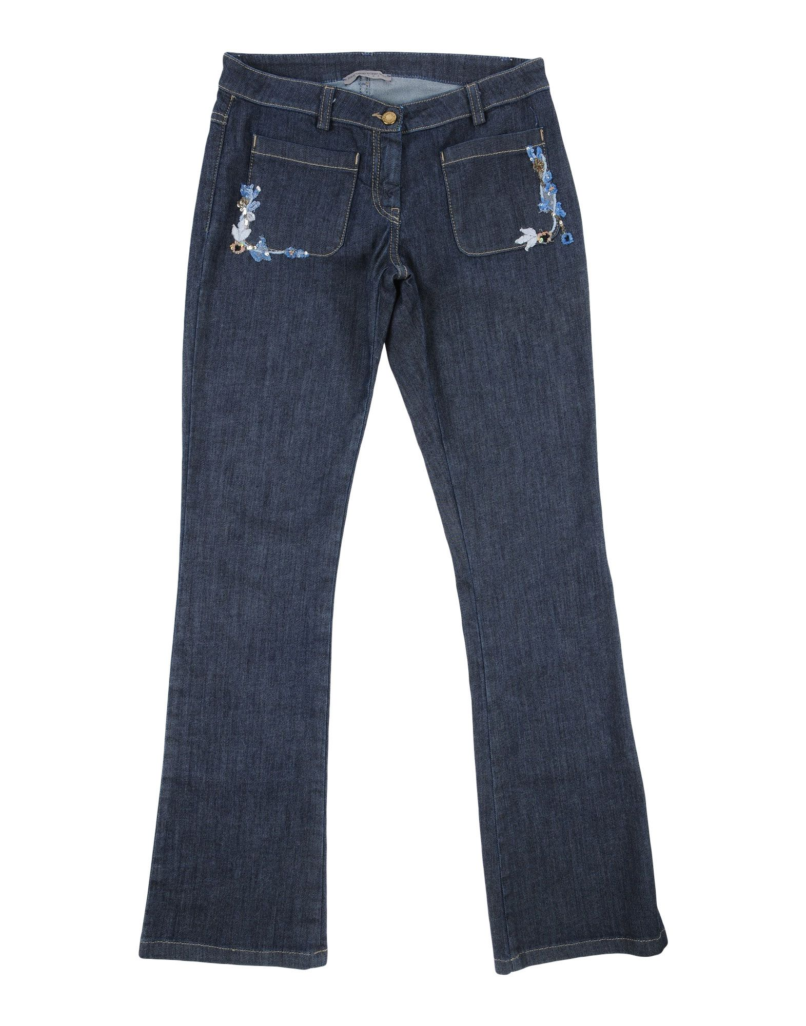 ERMANNO SCERVINO JUNIOR Denim Pants in Blue