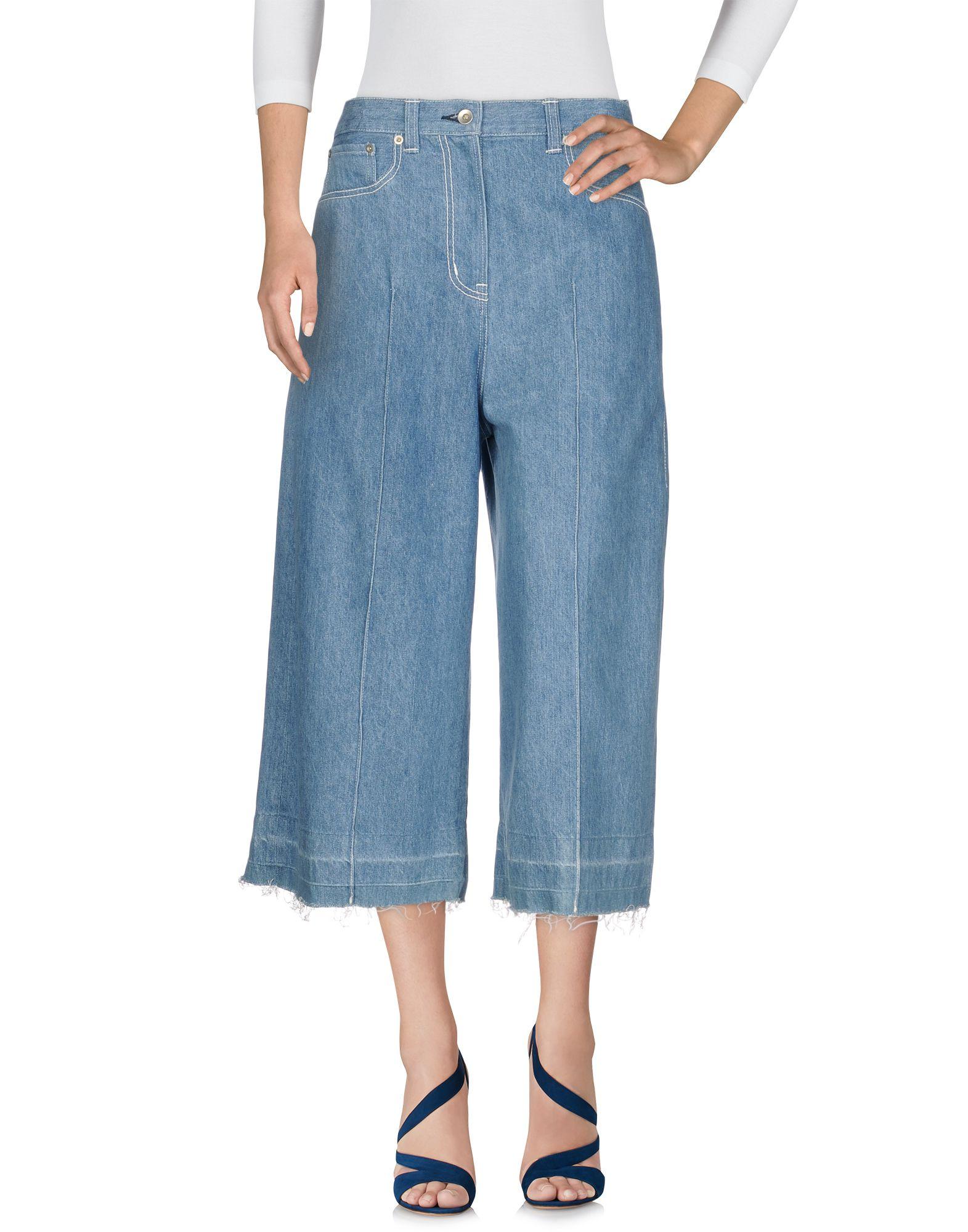 купить SACAI Джинсовые брюки-капри по цене 25000 рублей