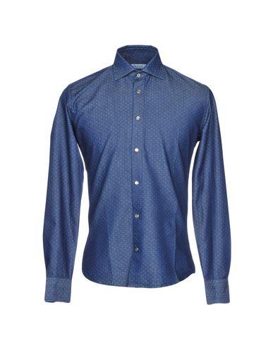 Фото - Джинсовая рубашка от HONORED синего цвета