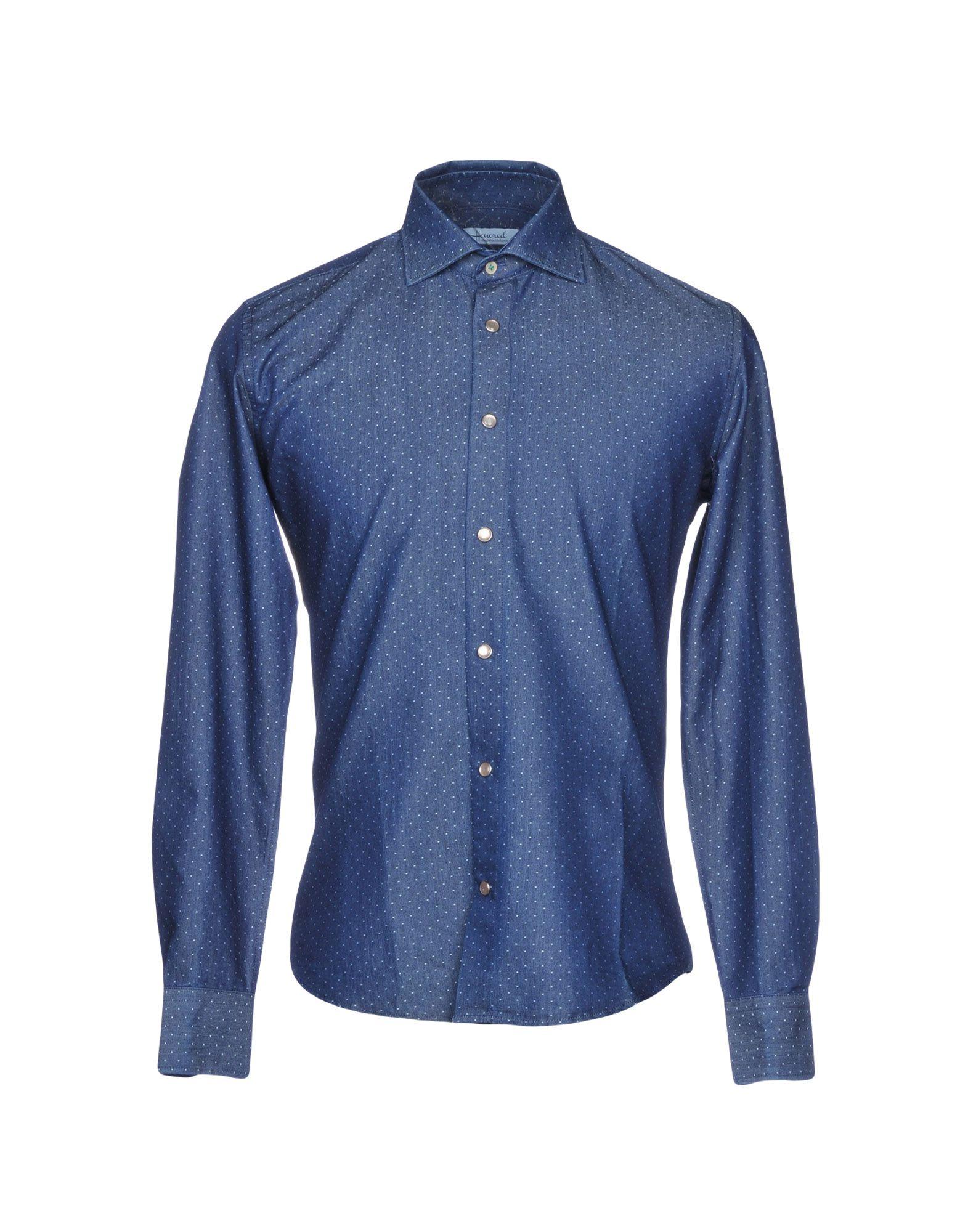 HONORED Джинсовая рубашка рубашка в мелкий горошек