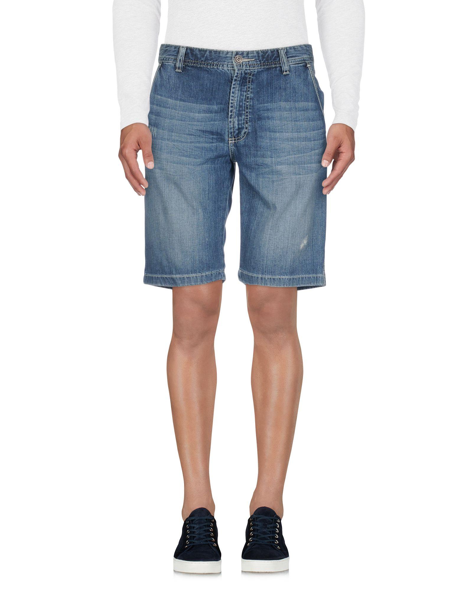 《送料無料》BUGATTI メンズ デニムバミューダパンツ ブルー 52 コットン 100%