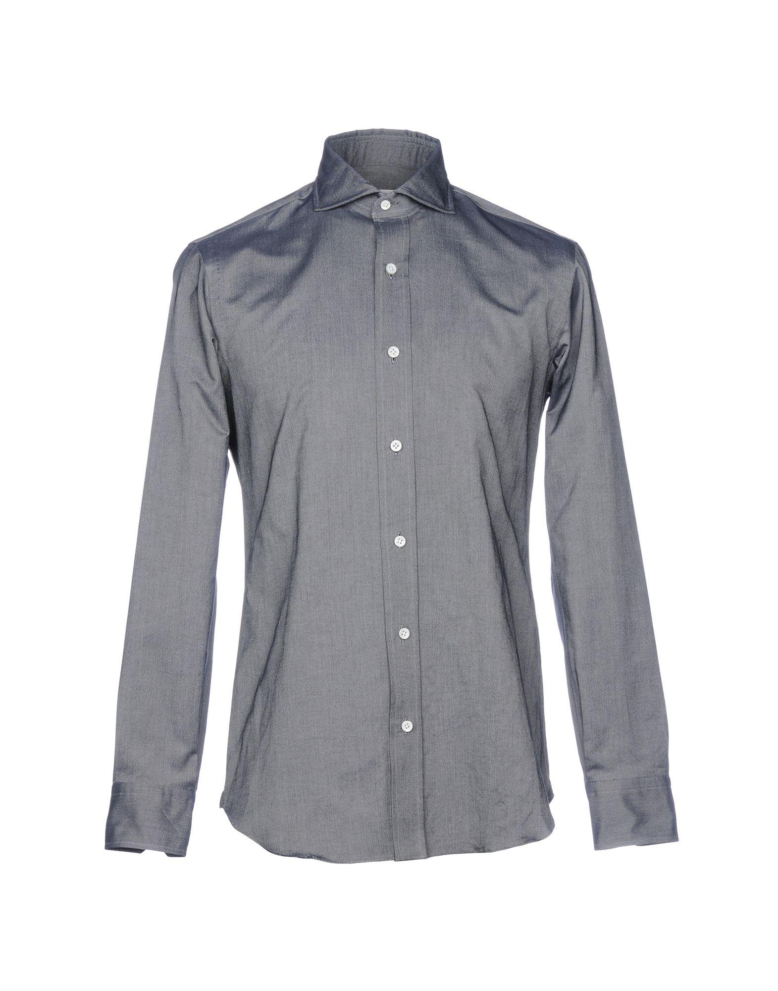 SALVATORE PICCOLO Denim Shirt in Steel Grey