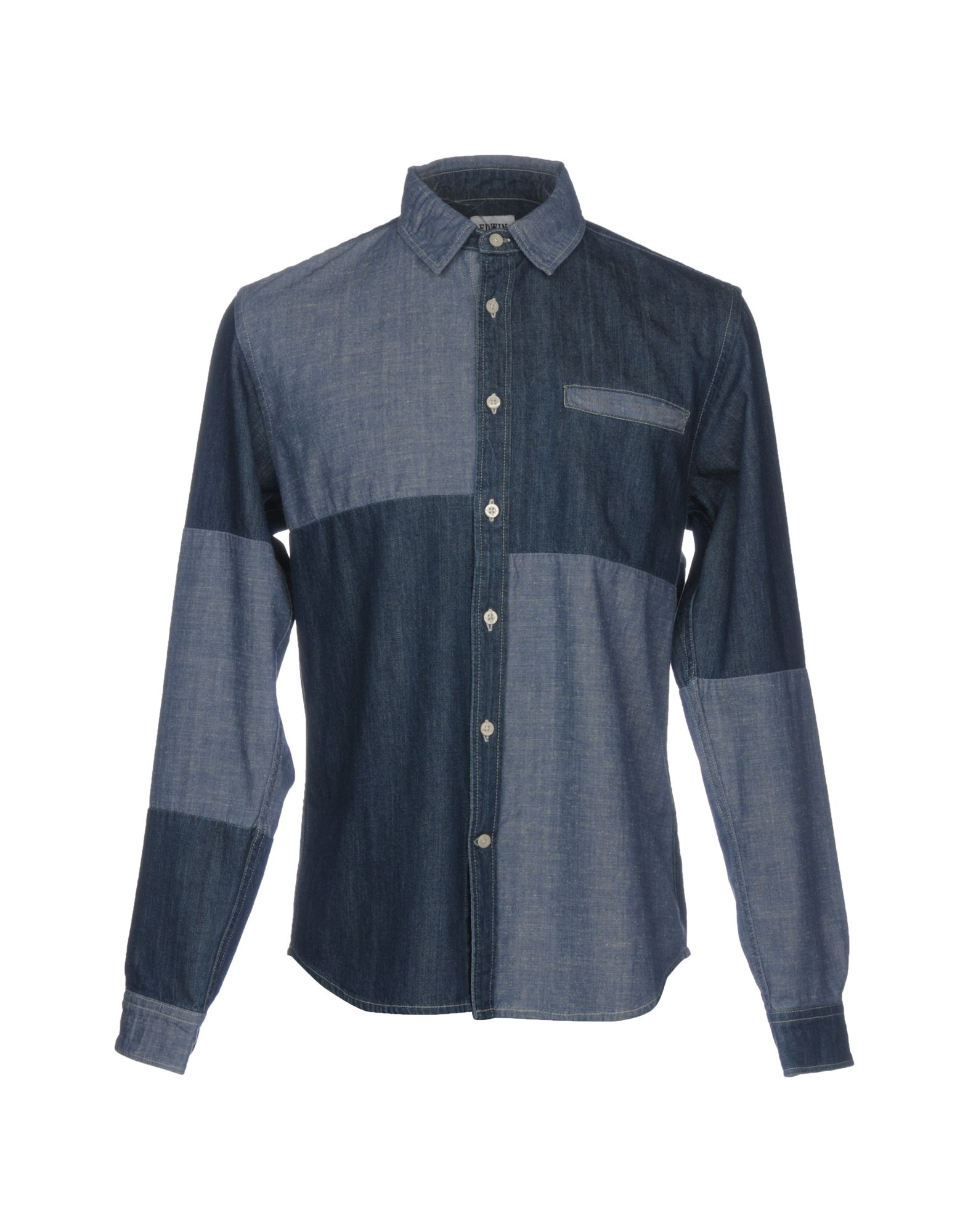 EDWIN Джинсовая рубашка theory джинсовая рубашка