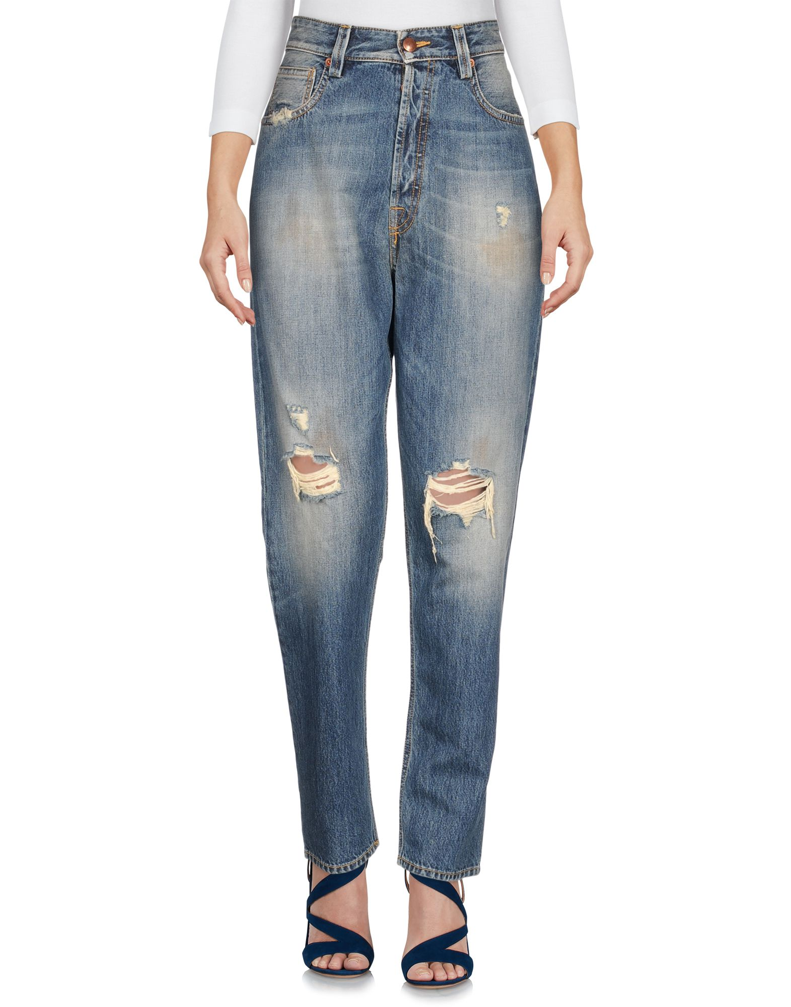 TERESA DAINELLI Denim Pants in Blue