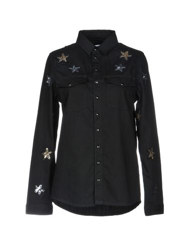 ZOE KARSSEN レディース デニムシャツ ブラック XS コットン 100%
