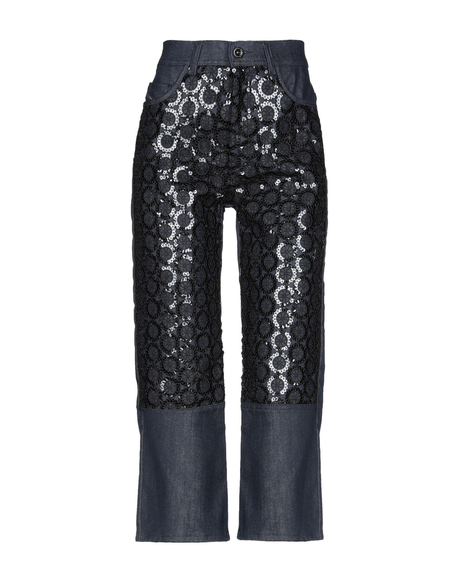 DIESEL BLACK GOLD Джинсовые брюки-капри black sexy lace up design plain halter sleeveless crop top