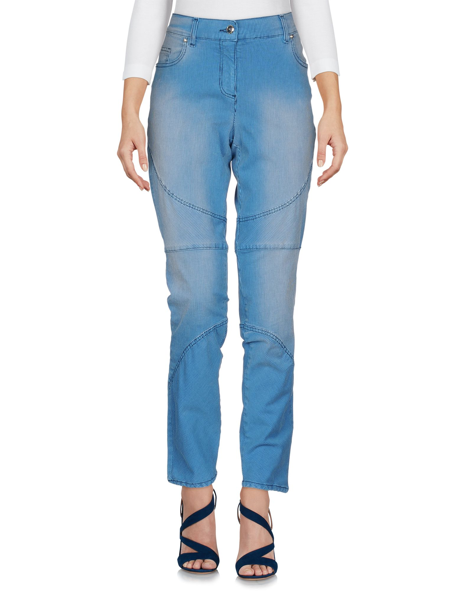 VERSACE JEANS Джинсовые брюки summer boyfriend jeans for women hole ripped white lace flowers denim pants low waist mujer vintage skinny stretch jeans female