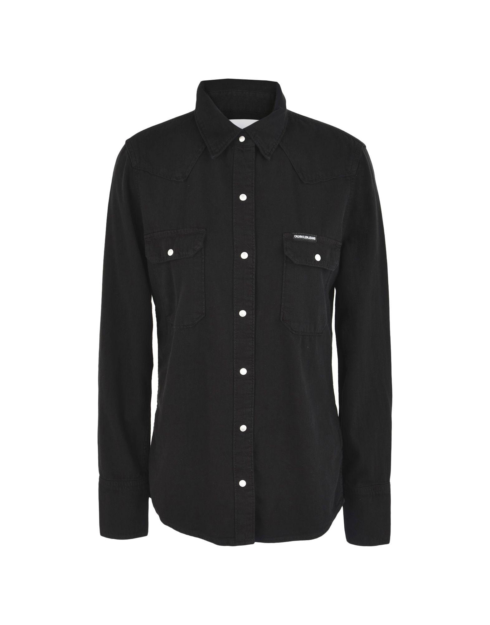 CALVIN KLEIN JEANS Джинсовая рубашка цена 2017