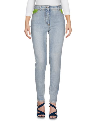 Купить Джинсовые брюки от JEREMY SCOTT синего цвета