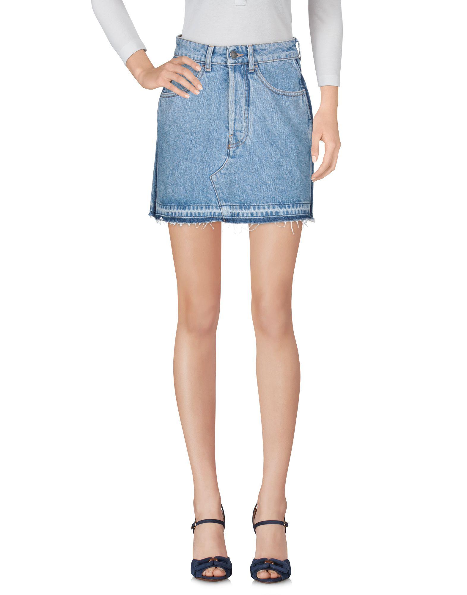 MARCELO BURLON Джинсовая юбка цена 2017