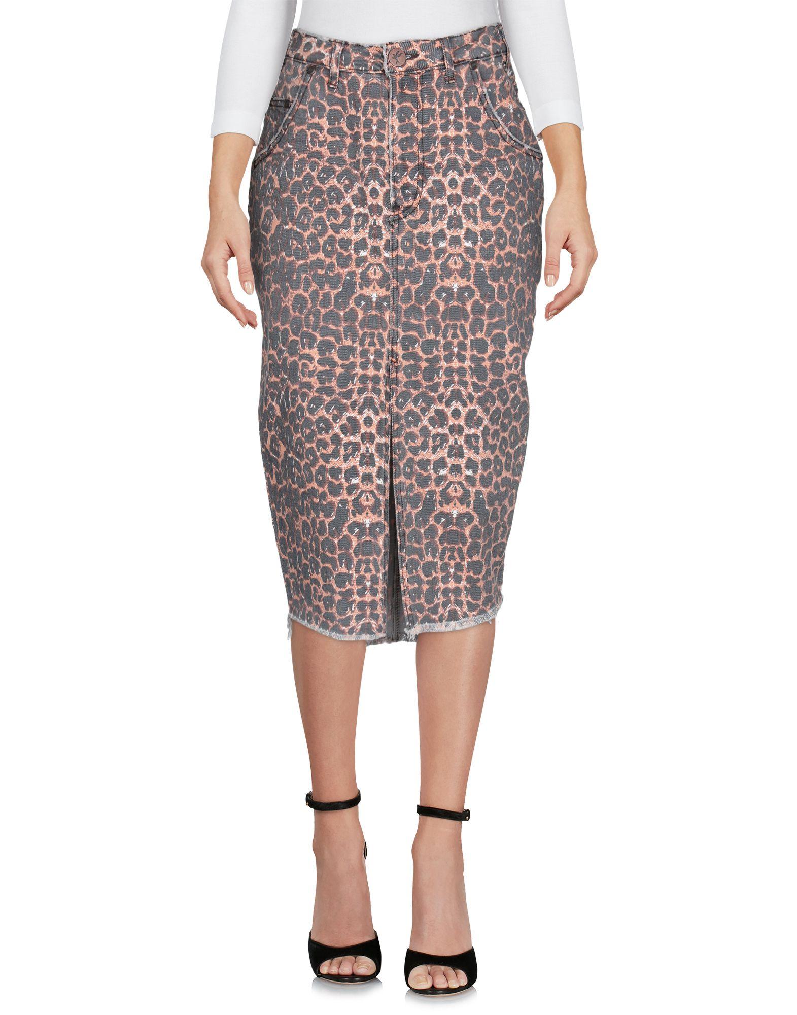 ONE x ONETEASPOON Джинсовая юбка табун рисунок 30 x 45см