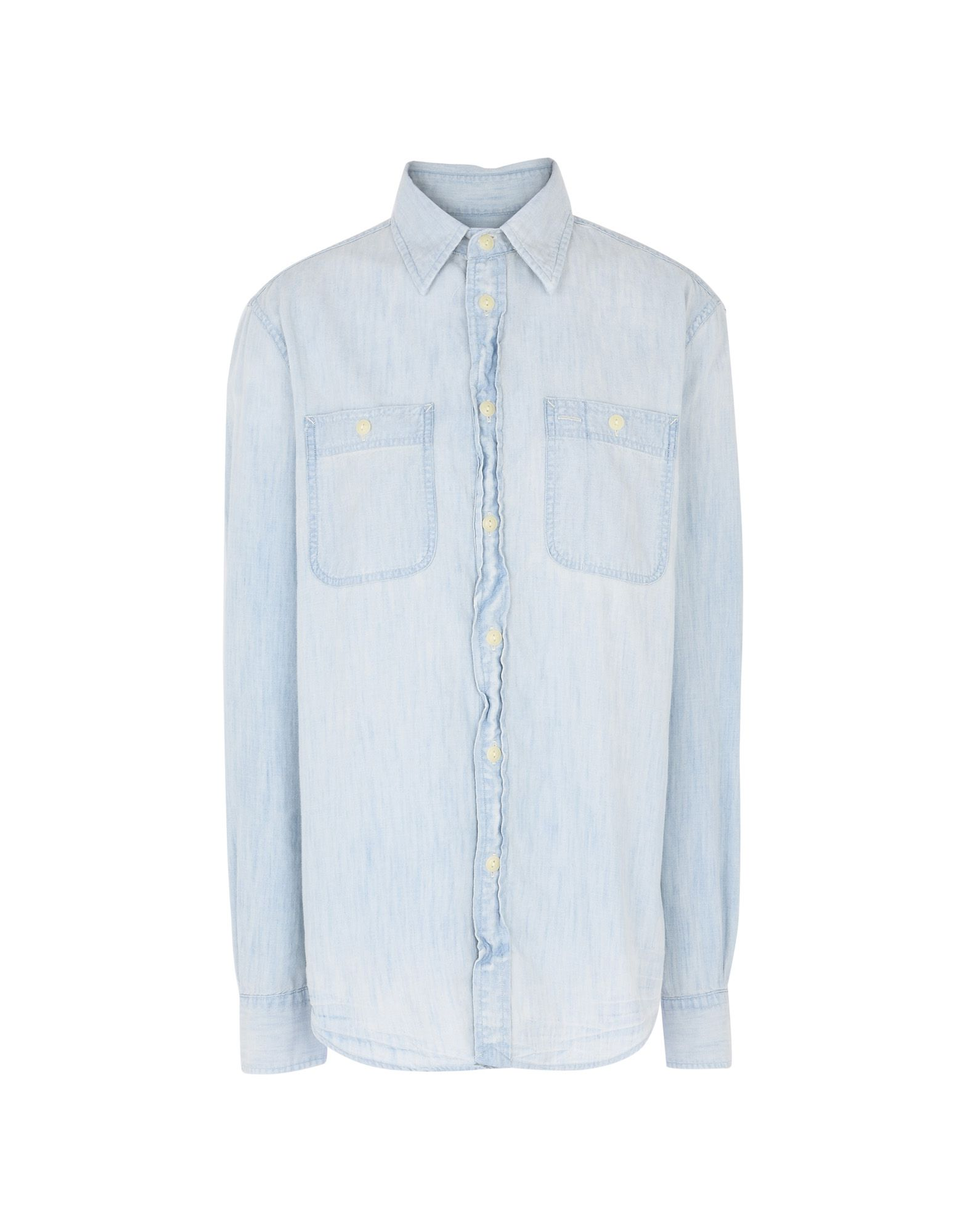 《送料無料》POLO RALPH LAUREN レディース デニムシャツ ブルー S コットン 100% Lightweight Chambray Shirt