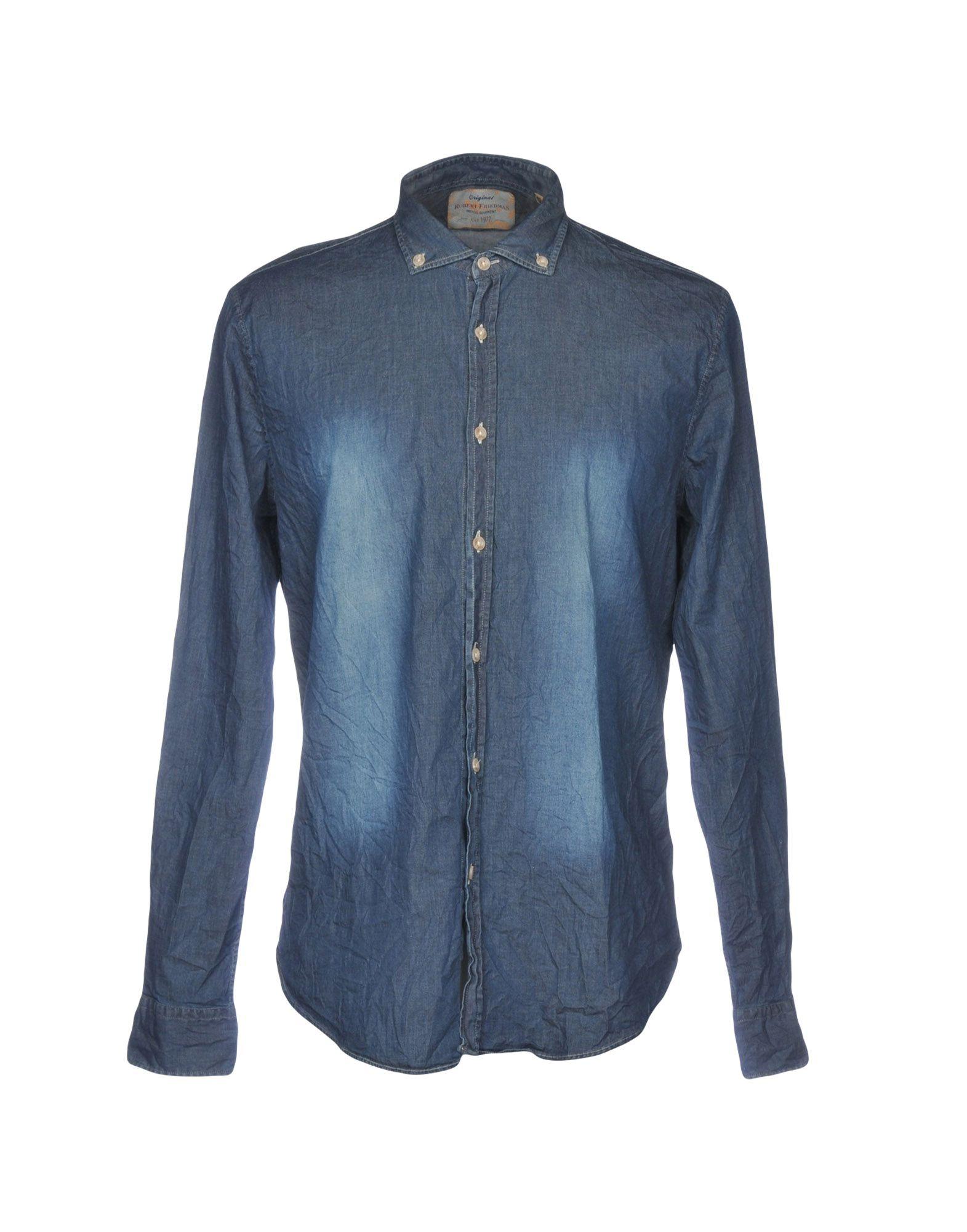 ROBERT FRIEDMAN Denim Shirt in Blue