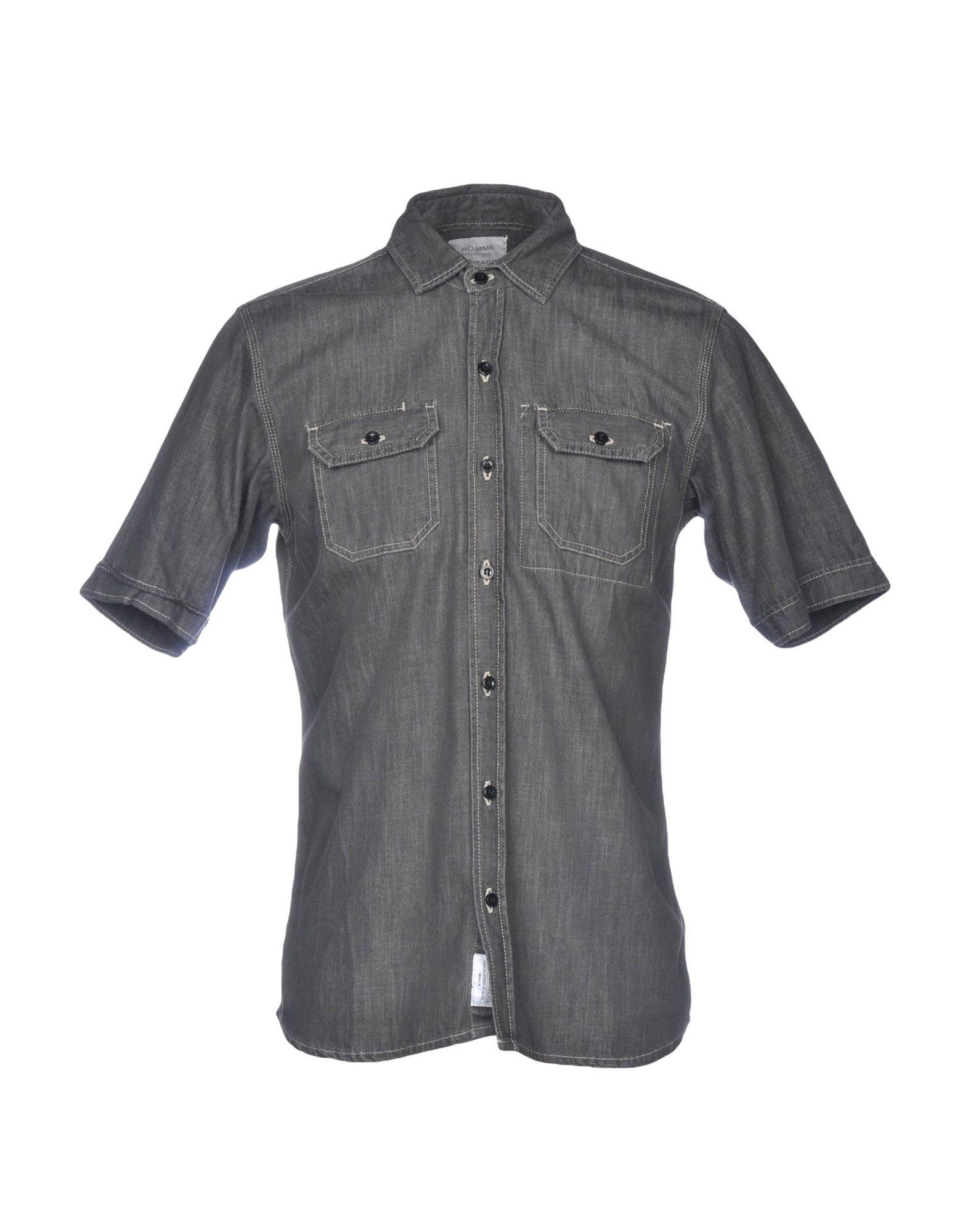 DANIELE ALESSANDRINI HOMME Джинсовая рубашка daniele alessandrini homme джинсовая рубашка