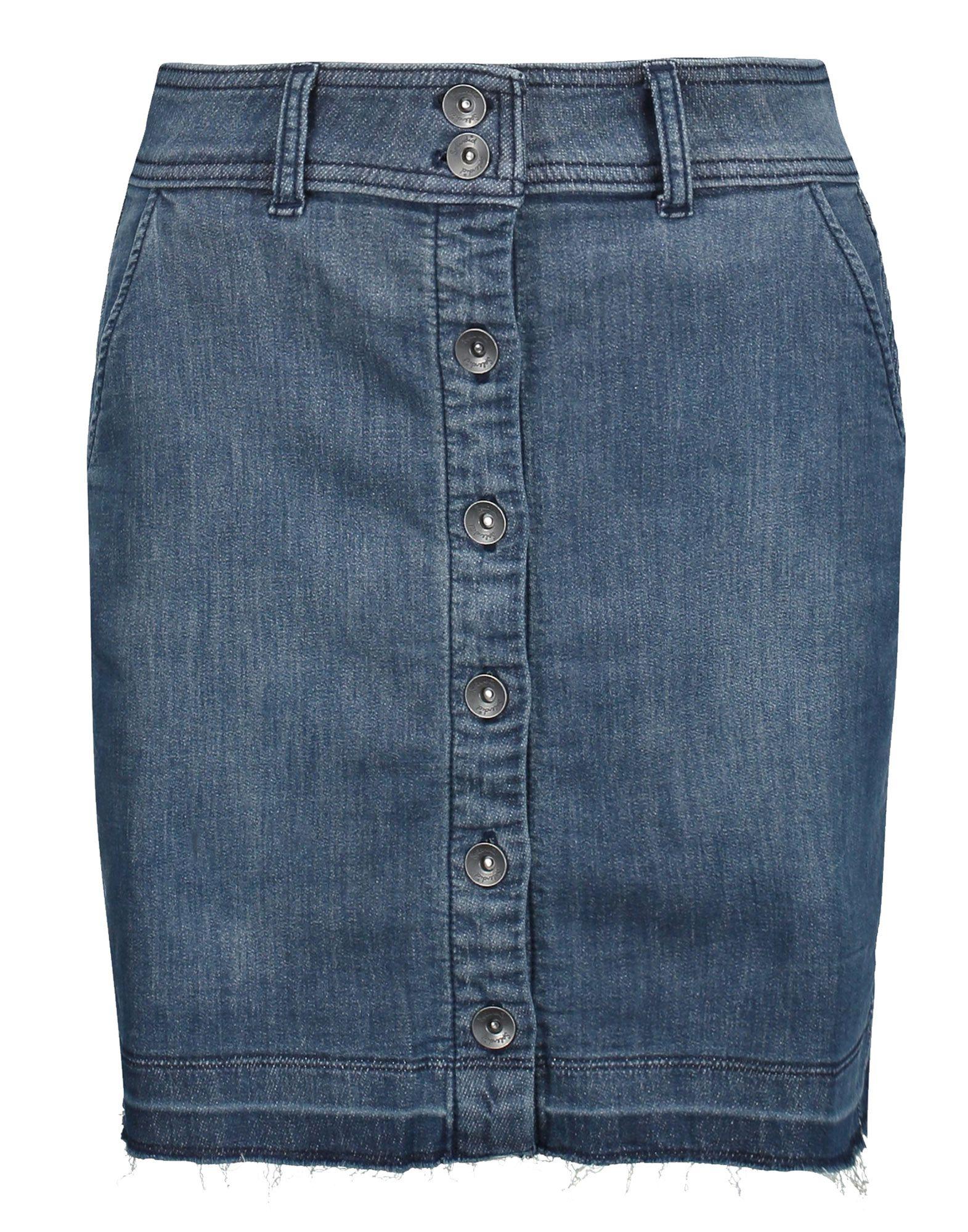 SPLENDID Джинсовая юбка splendid юбка sandwash в рубчик