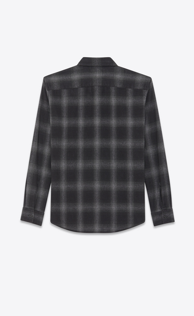 SAINT LAURENT Denim shirts Woman Oversized checked shirt b_V4