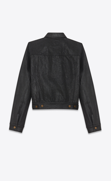 SAINT LAURENT Denim jackets Woman Coated denim jacket b_V4