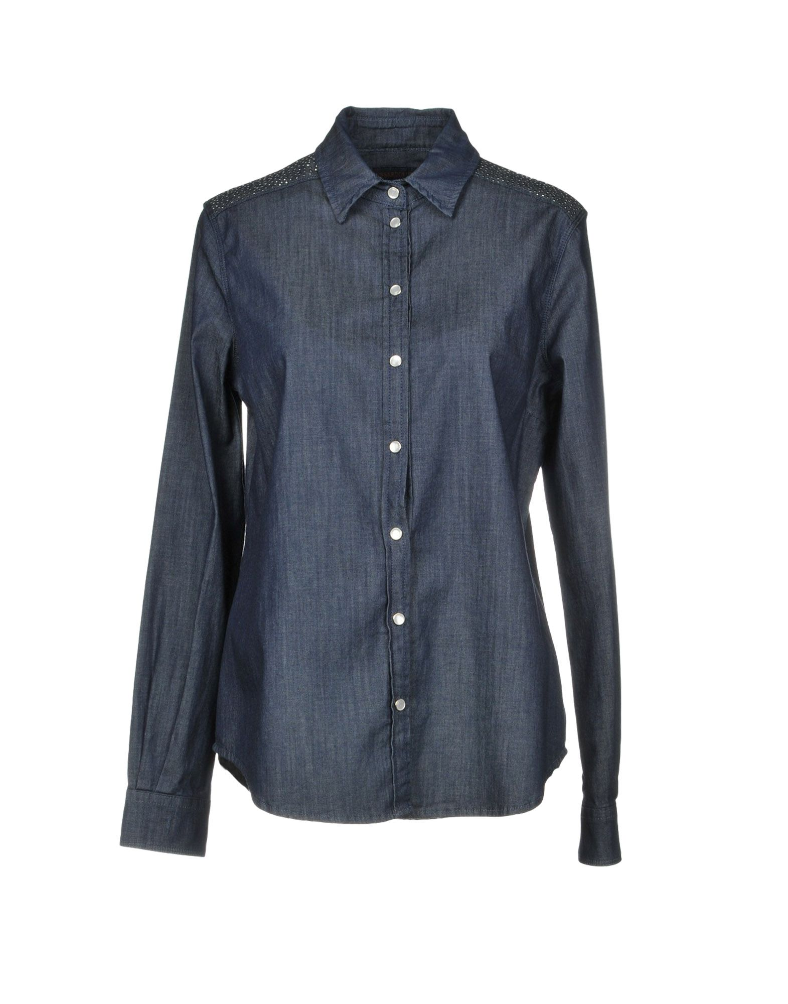 TRUSSARDI JEANS Джинсовая рубашка tru trussardi джинсовая рубашка