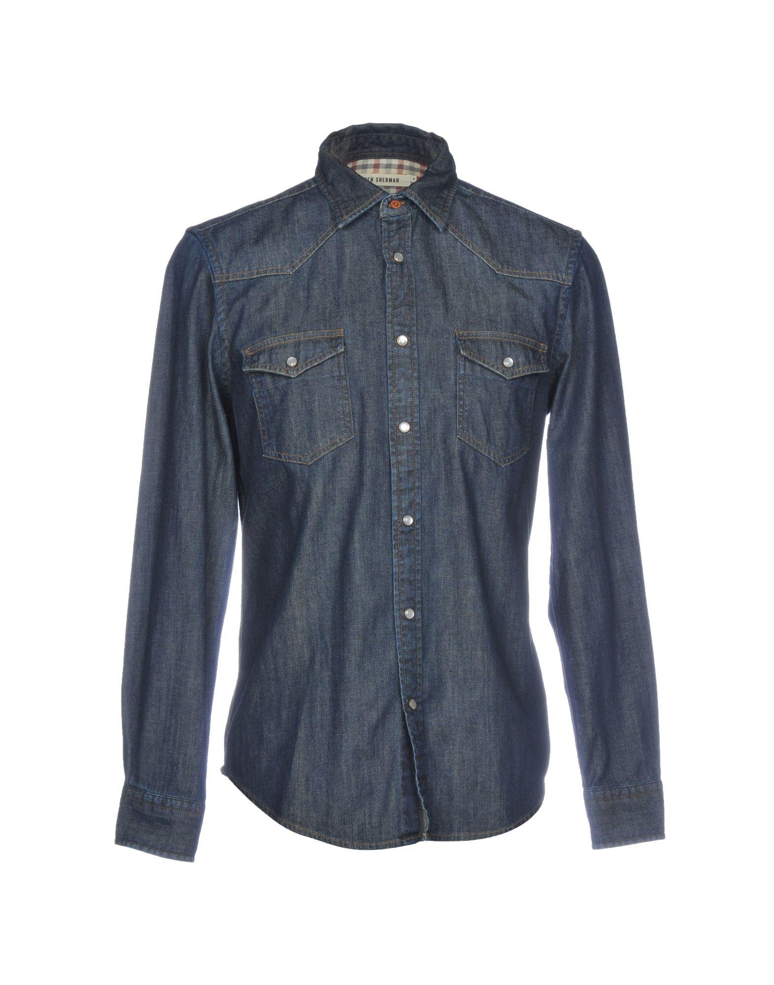 все цены на BEN SHERMAN Джинсовая рубашка онлайн