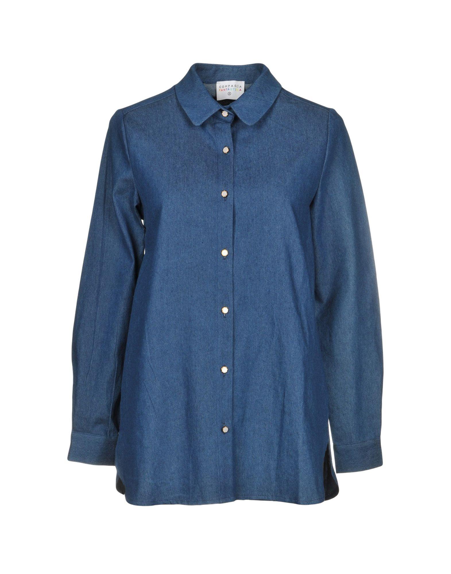 COMPAÑIA FANTASTICA Джинсовая рубашка pepe jeans gable stitching