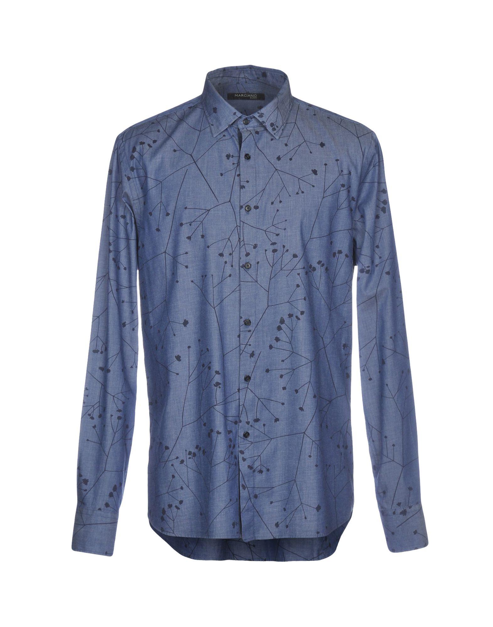 GUESS BY MARCIANO Джинсовая рубашка рубашка marciano guess 63h418 4144z s676