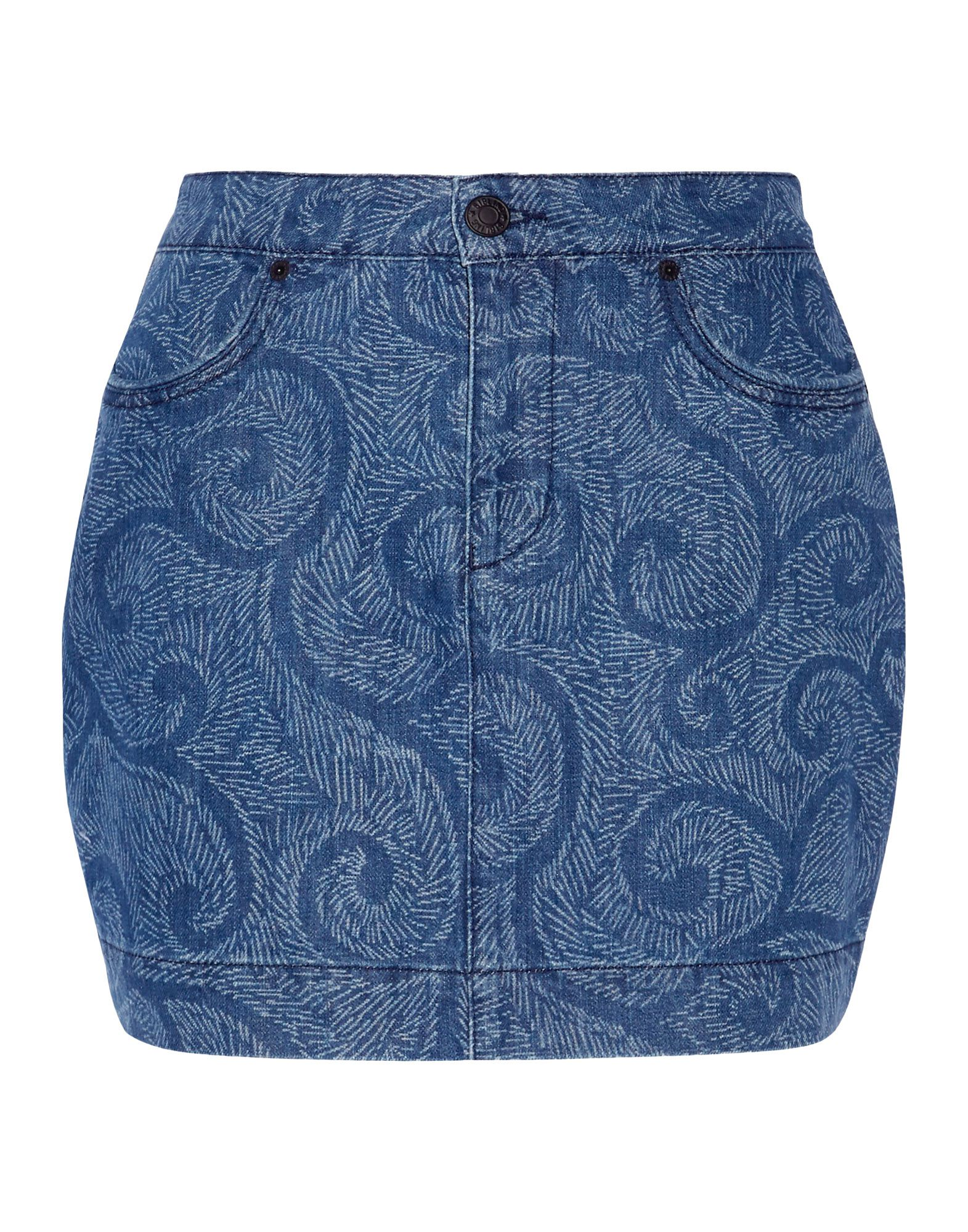 SIBLING Denim Skirt in Blue