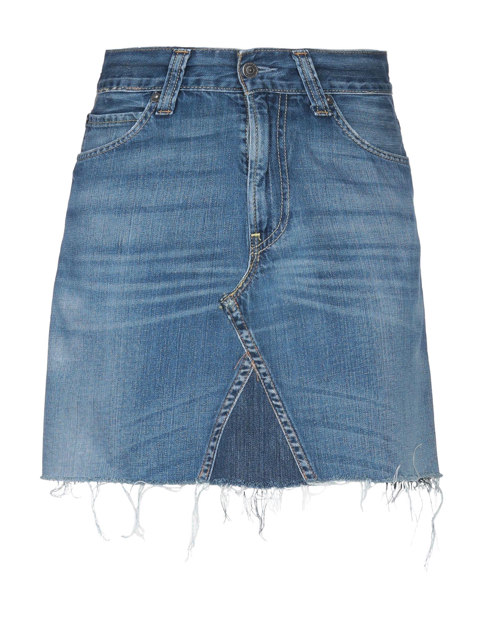 《期間限定セール中》ODI ET AMO with LEVI'S レディース デニムスカート ブルー XS コットン 100%