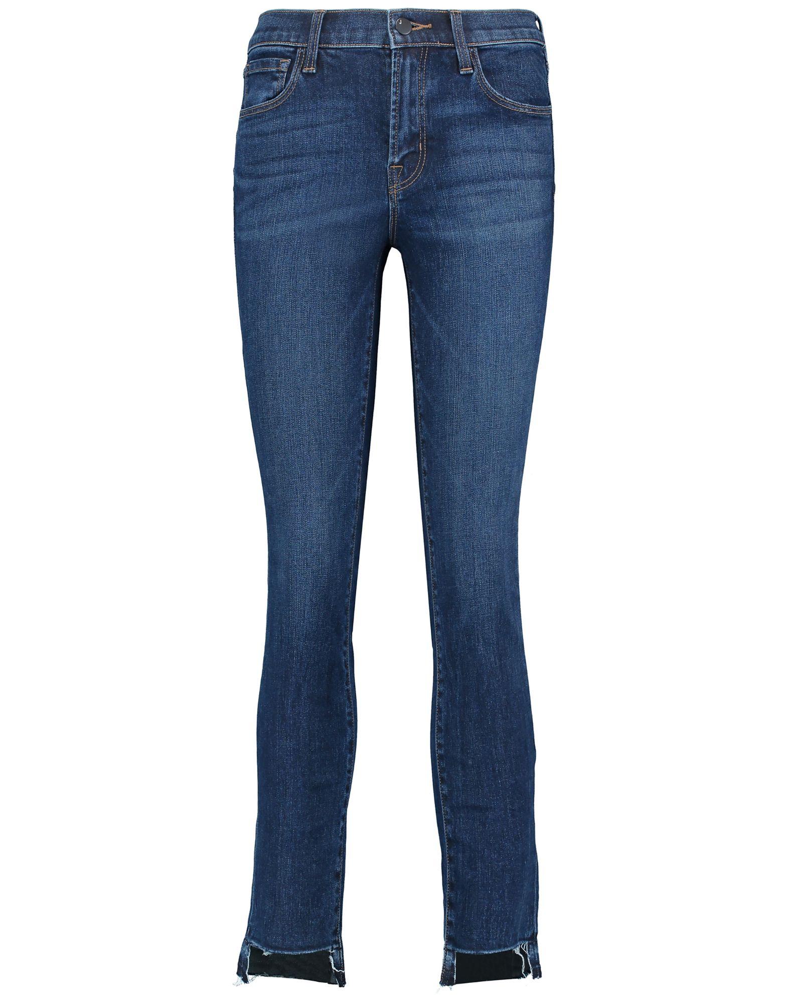 J BRAND Джинсовые брюки button design mid waist skinny jeans