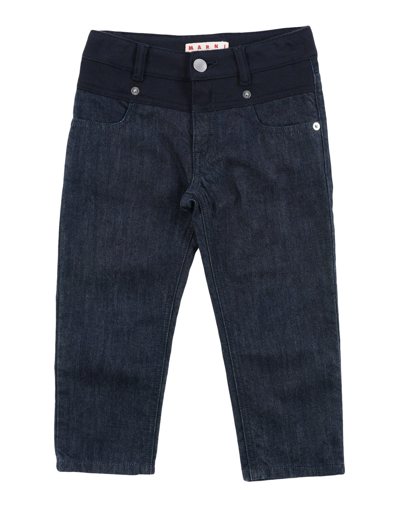 MARNI Джинсовые брюки брюки текстильные джинсовые для девочек 110 362011 синий деним ean 4690244736511