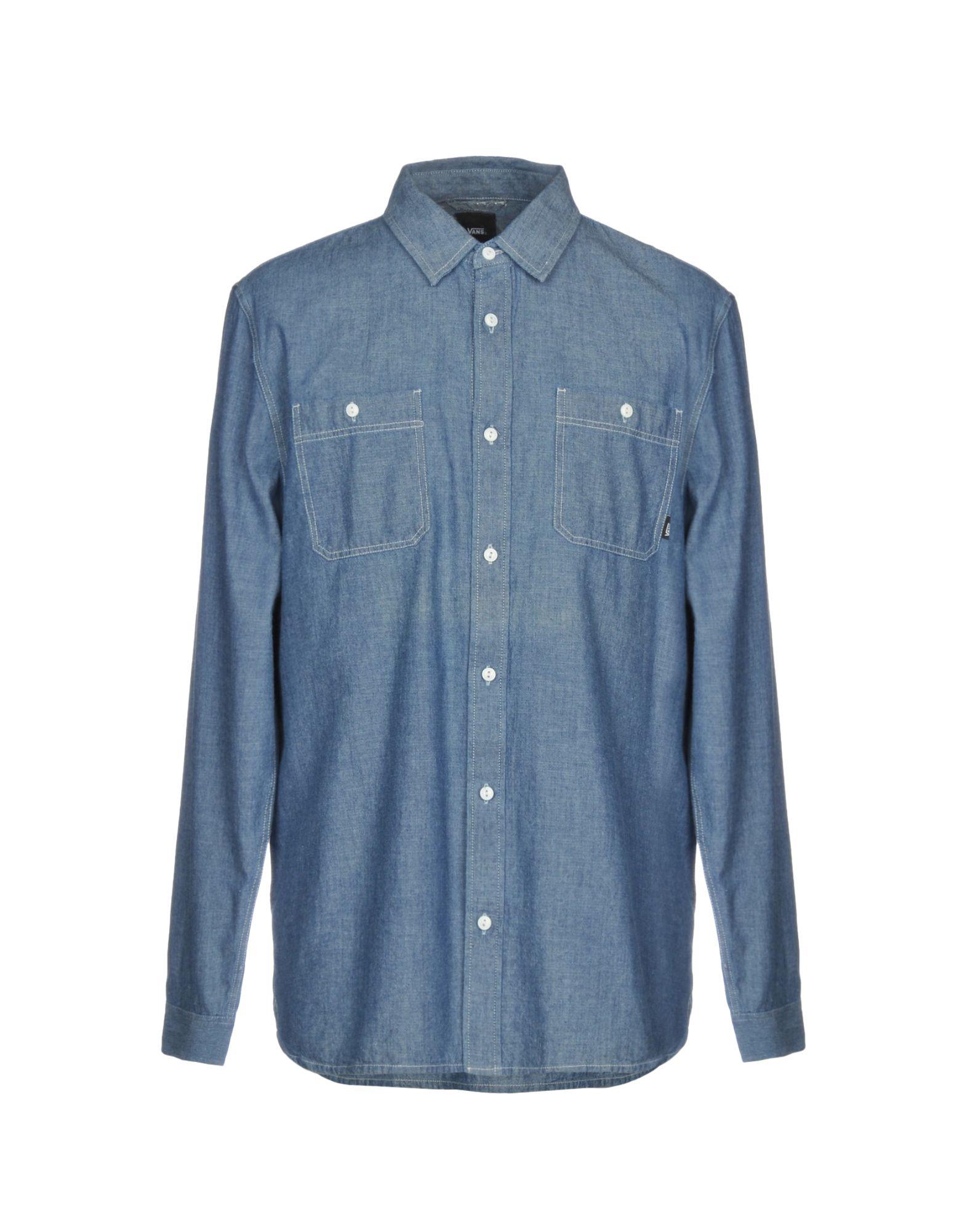 《送料無料》VANS メンズ デニムシャツ ブルー L コットン 100%
