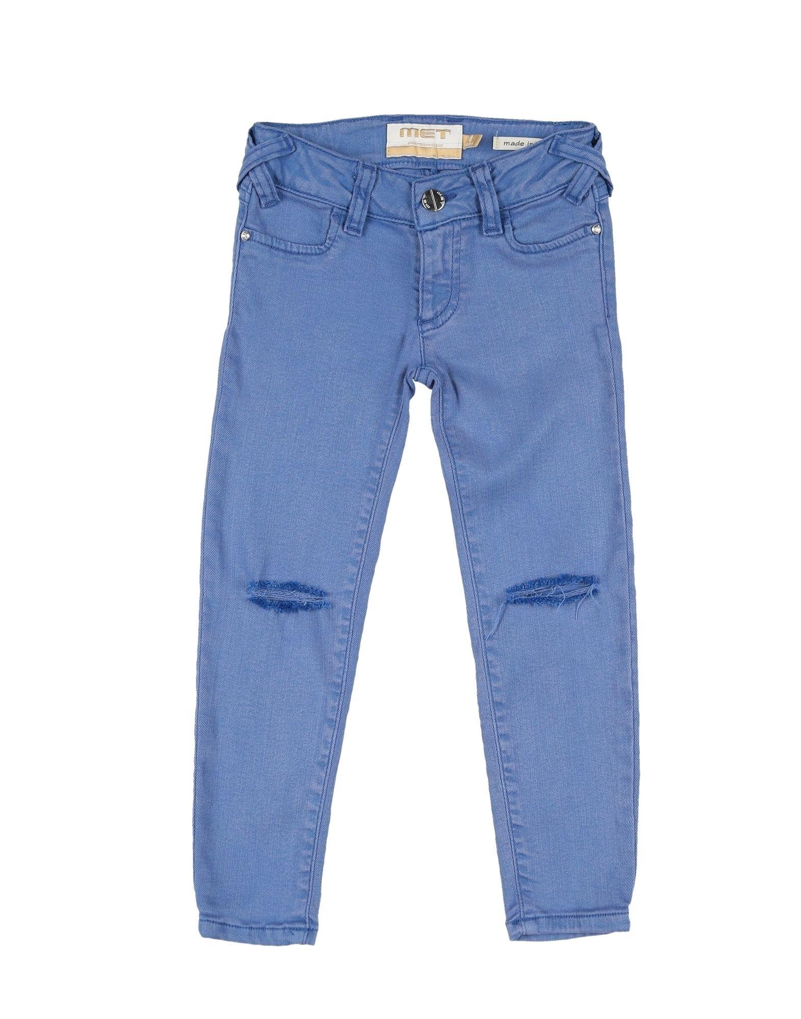 MET Джинсовые брюки брюки текстильные джинсовые для девочек 110 362011 синий деним ean 4690244736511