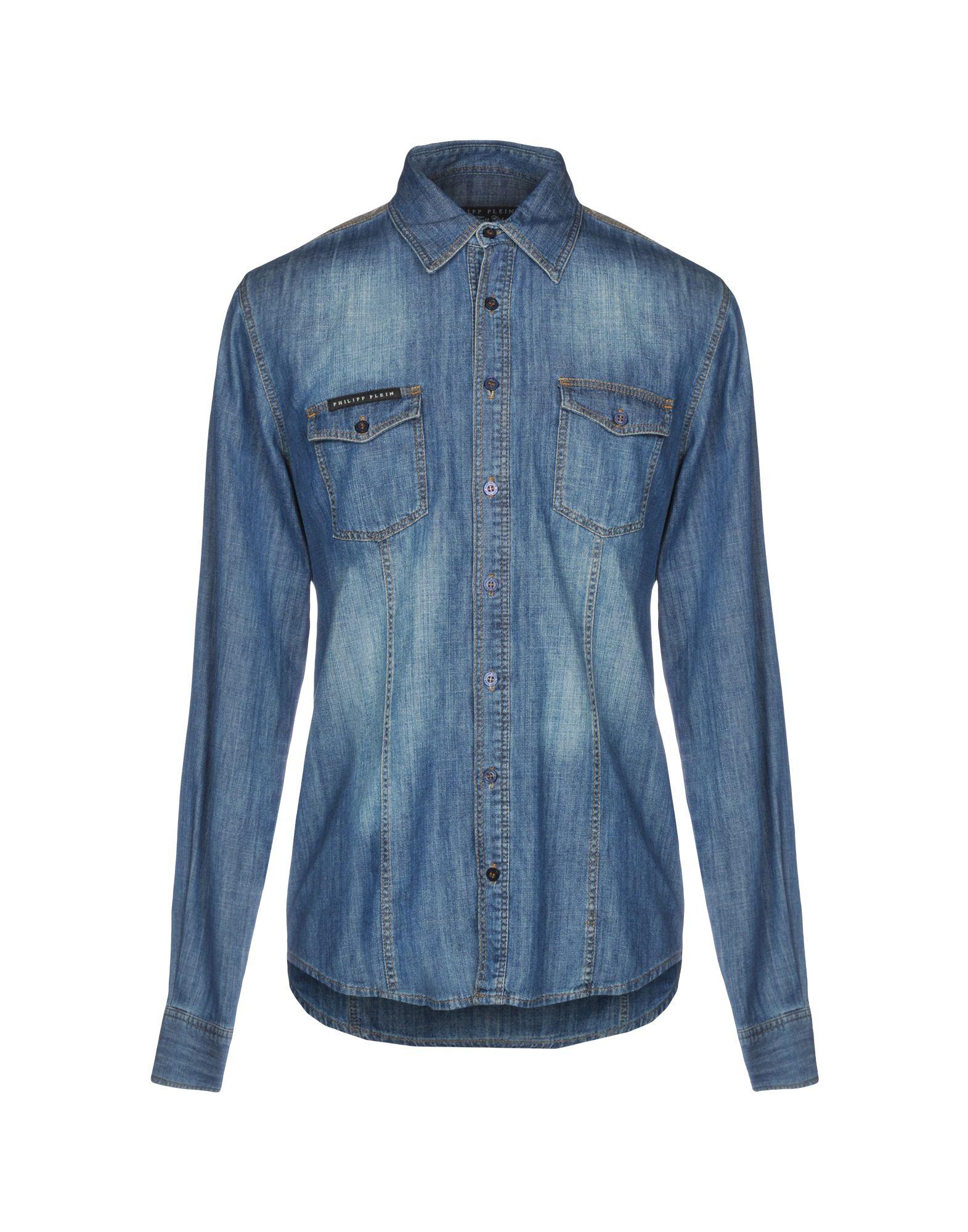 купить PHILIPP PLEIN Джинсовая рубашка по цене 19250 рублей