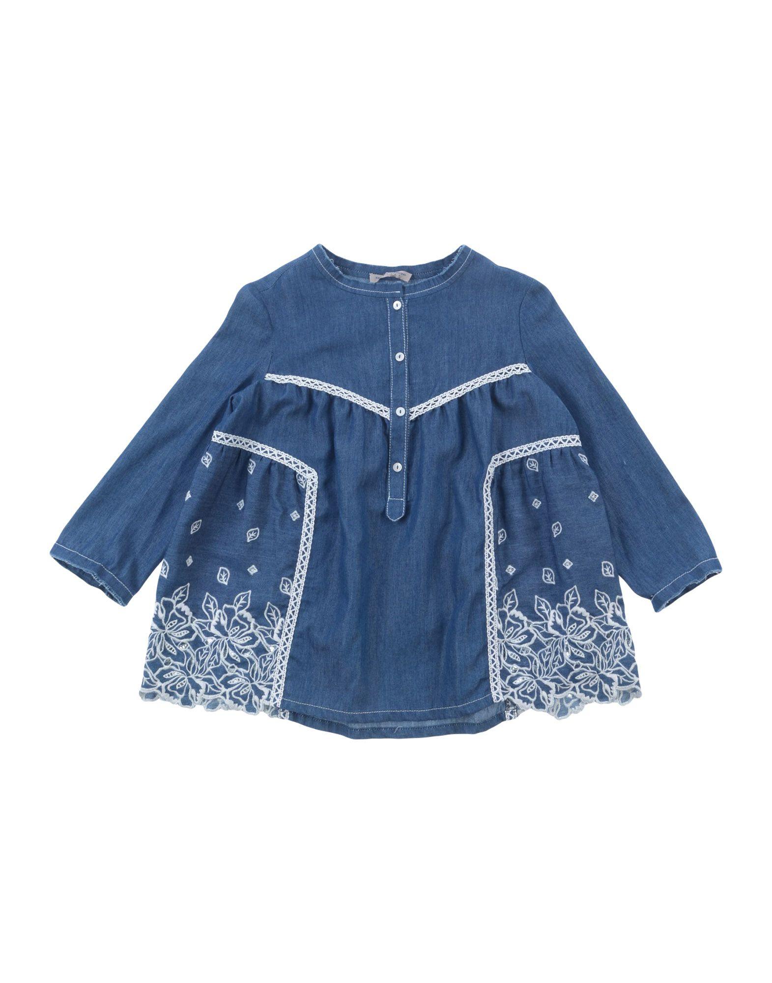 ERMANNO SCERVINO JUNIOR Джинсовая рубашка junior republic junior republic рубашка в мелкую полоску голубая