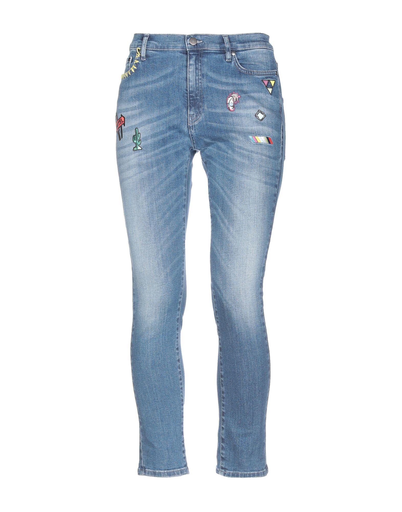 MIRA MIKATI Джинсовые брюки mira mikati хлопковая рубашка с вышивкой на спине