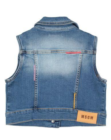 Фото 2 - Джинсовая верхняя одежда от MSGM синего цвета
