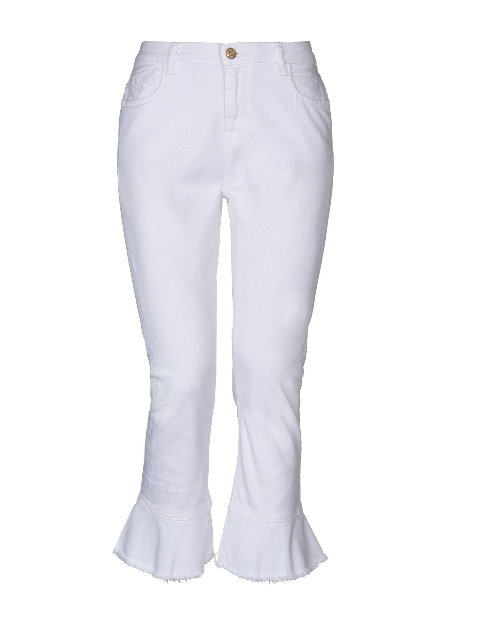 《セール開催中》ESSENTIEL ANTWERP レディース デニムカプリパンツ ホワイト 28W-32L コットン 98% / ポリウレタン 2%