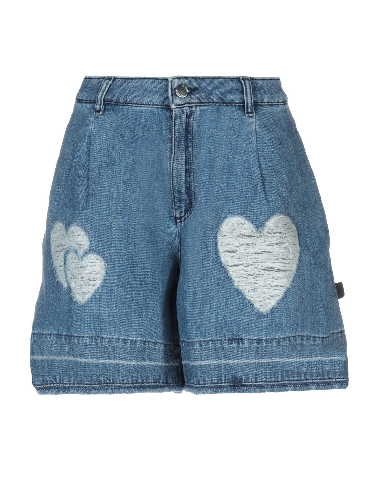 LOVE MOSCHINO Джинсовые шорты love moschino шорты love moschino cf w o 068 00 t 7757 y13 голубой