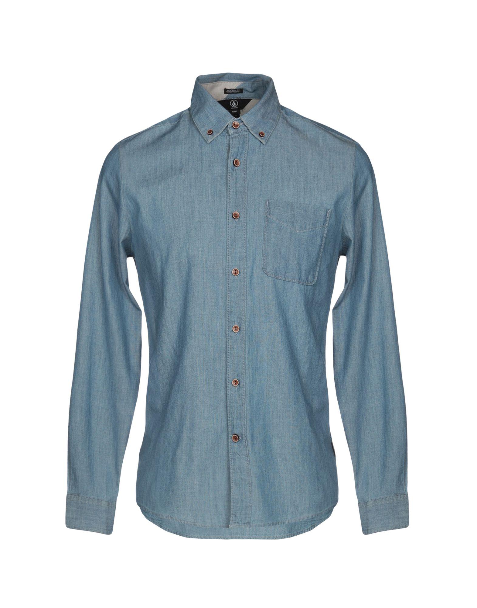 VOLCOM Джинсовая рубашка volcom рубашка volcom hadley solid ash blue l