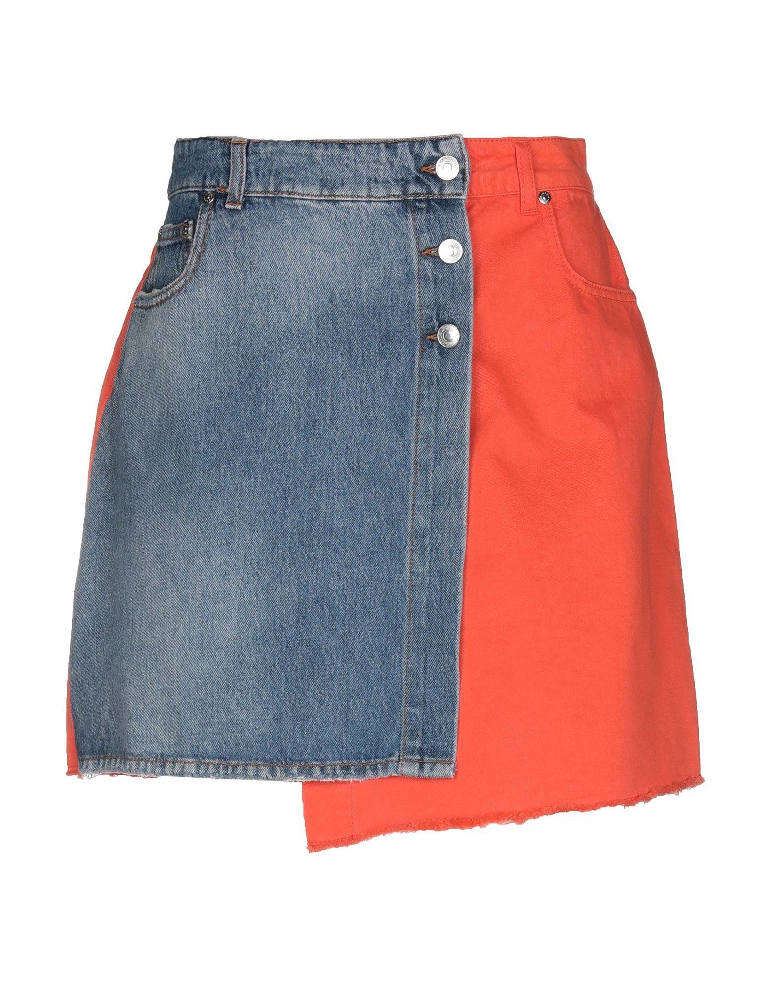 MSGM Джинсовая юбка msgm джинсовая куртка с нашивкой
