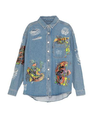Купить Джинсовая верхняя одежда от JEREMY SCOTT синего цвета