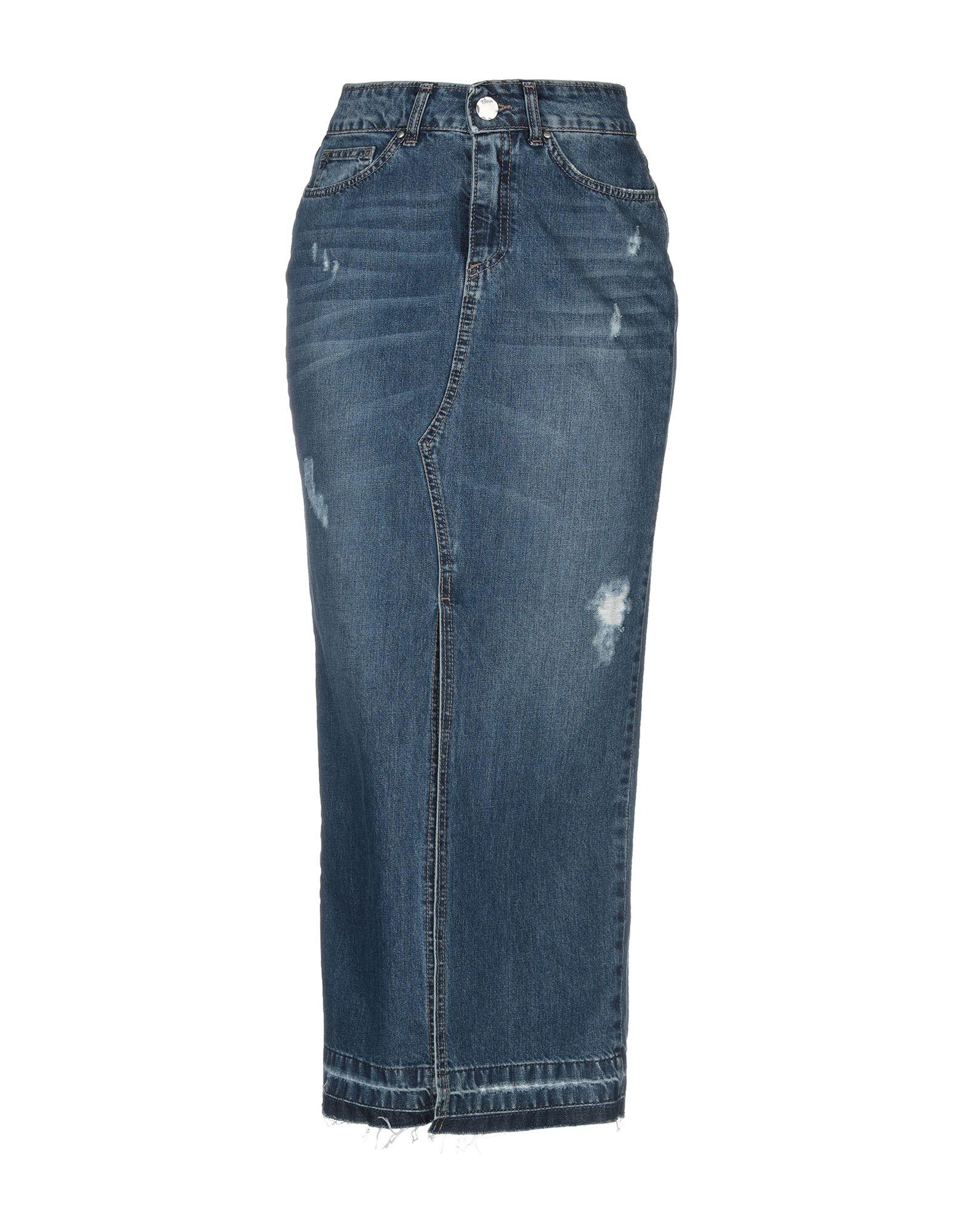 《送料無料》BERNA レディース デニムスカート ブルー 40 コットン 100%
