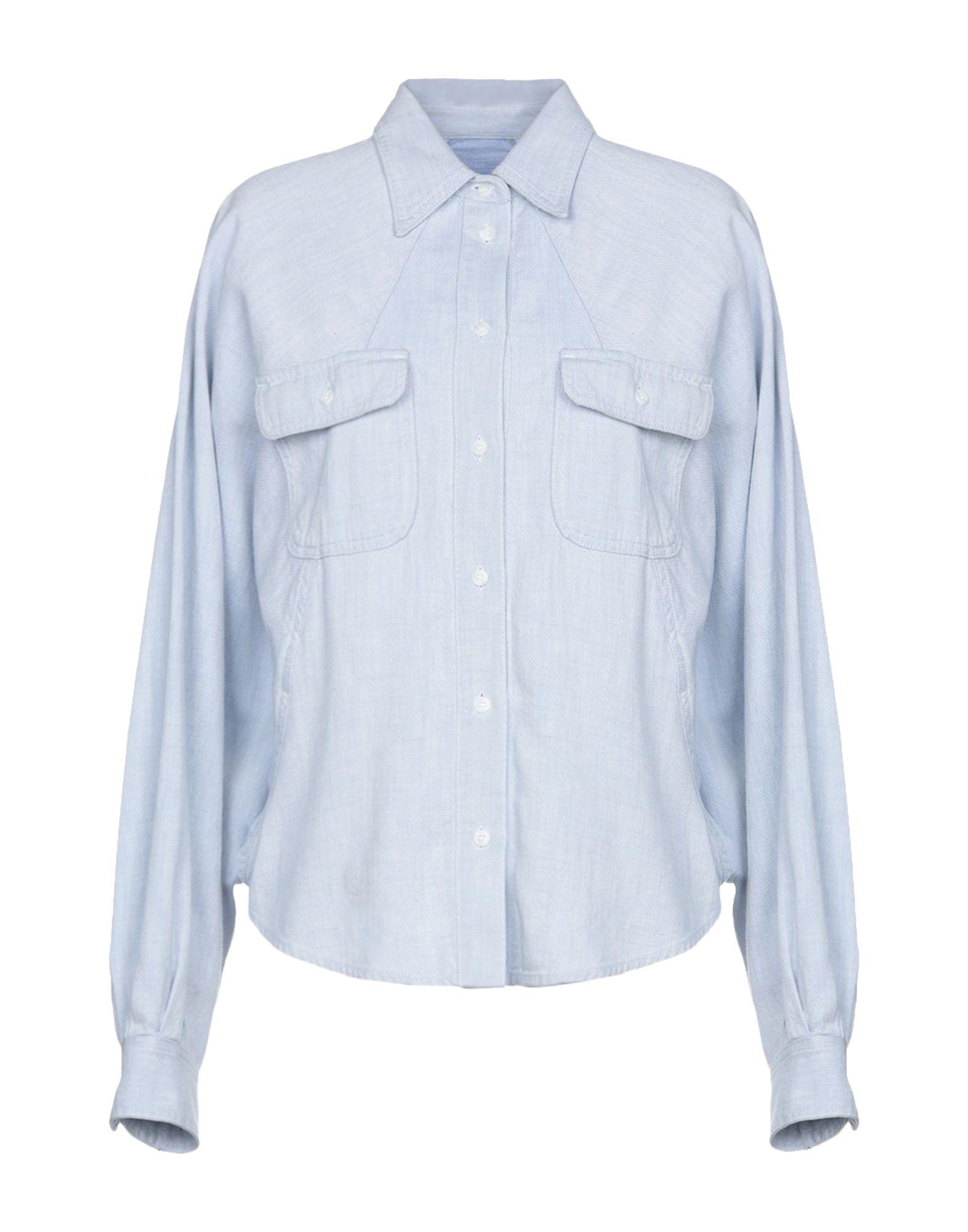 MM6 MAISON MARGIELA Джинсовая рубашка цена 2017
