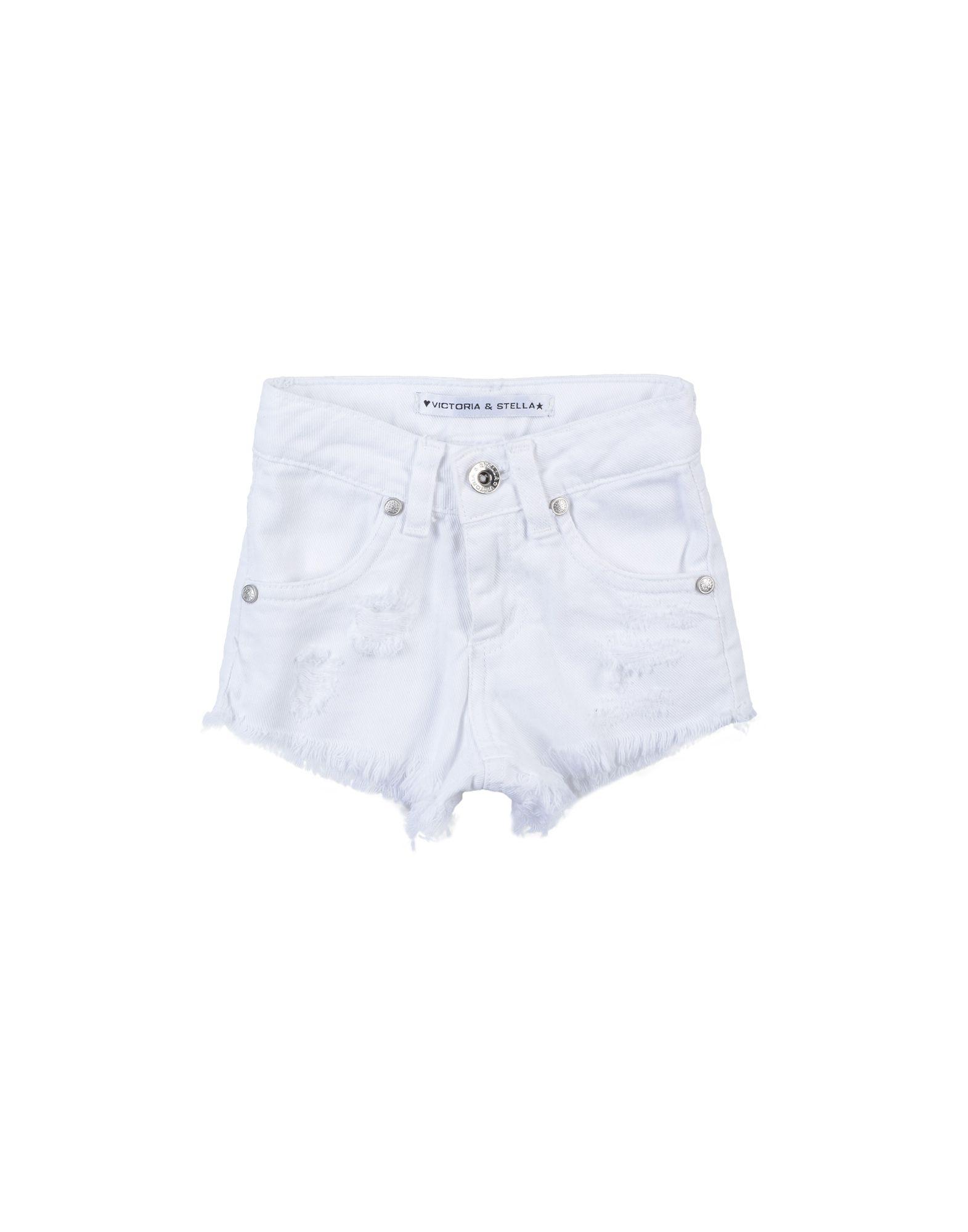 VICTORIA & STELLA Denim shorts - Item 42696839