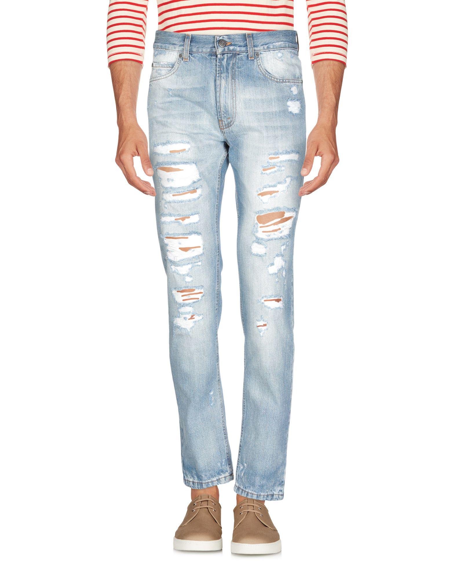 《送料無料》PAURA メンズ ジーンズ ブルー 46 コットン 100%