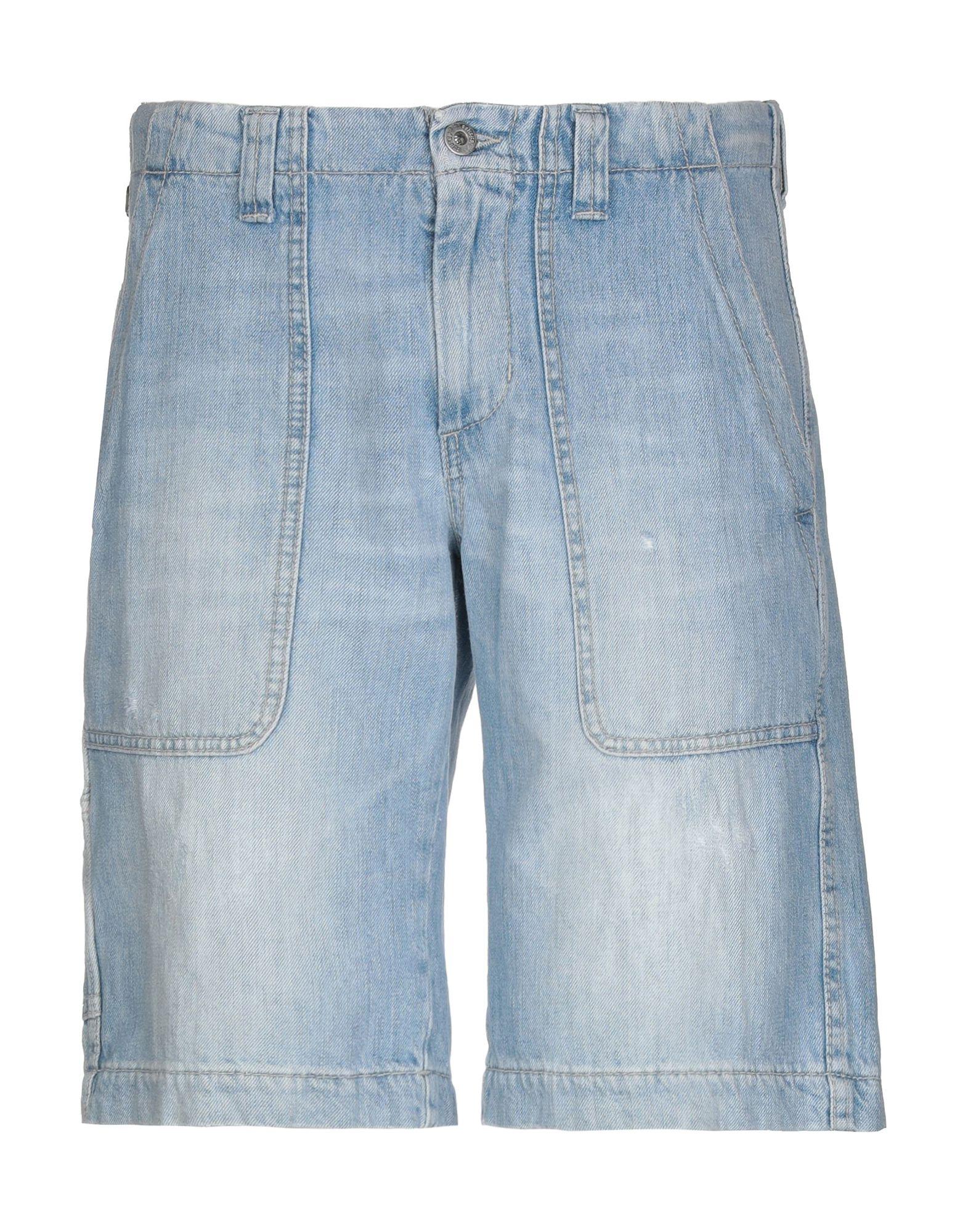 《セール開催中》DONDUP メンズ デニムバミューダパンツ ブルー 29 100% コットン