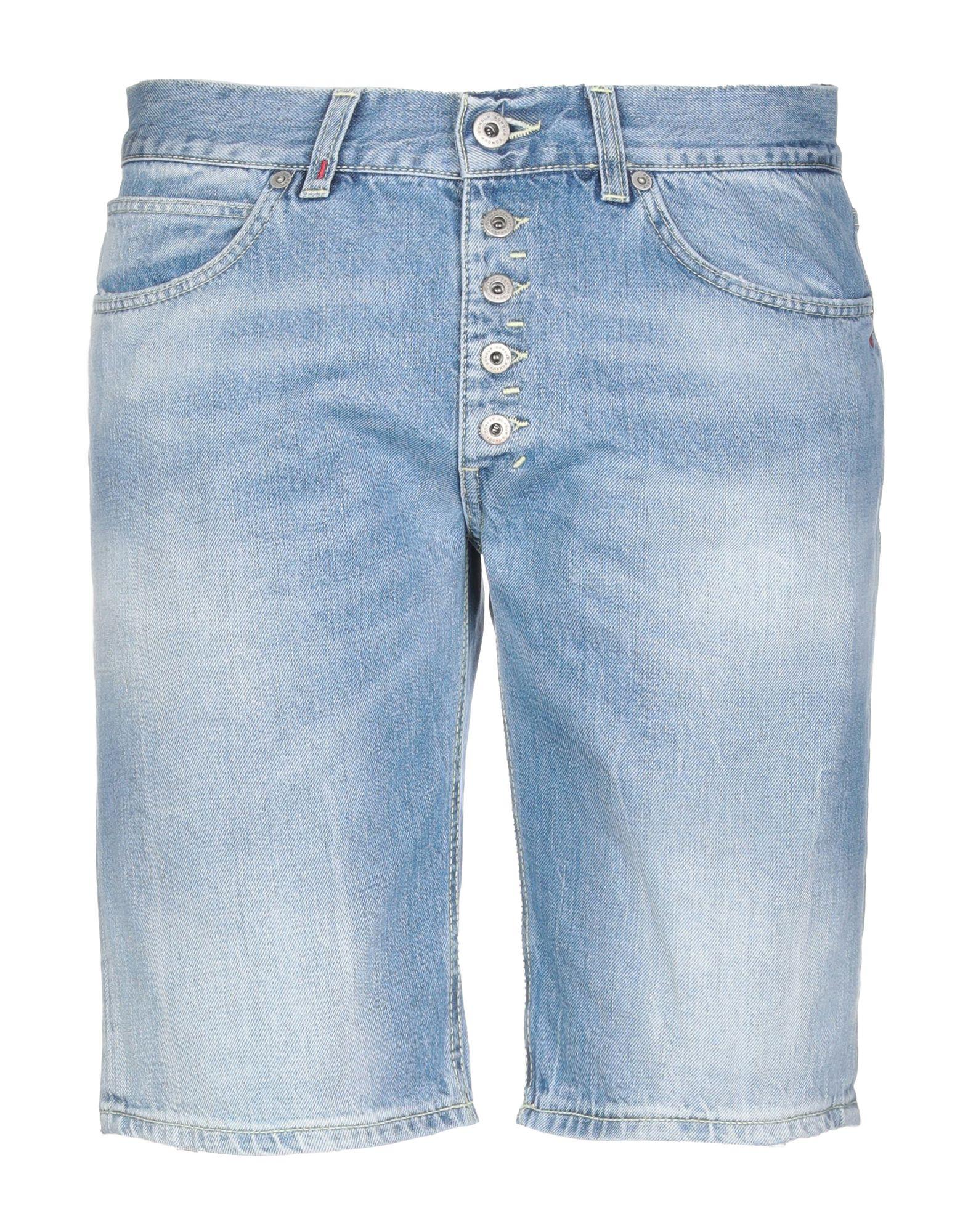 《期間限定セール中》DONDUP メンズ デニムバミューダパンツ ブルー 30 コットン 100%