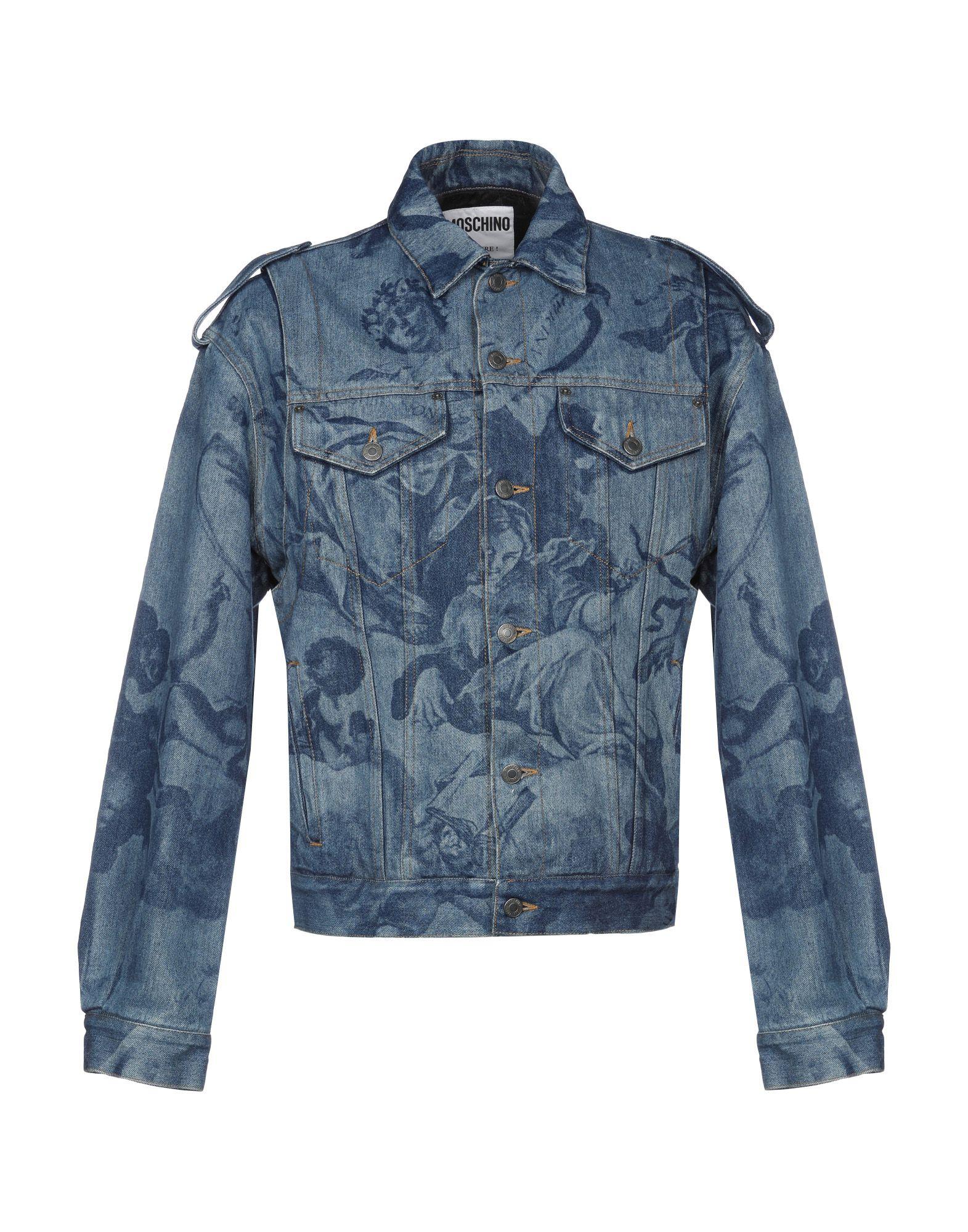 MOSCHINO Джинсовая верхняя одежда moschino одежда официальный сайт каталог