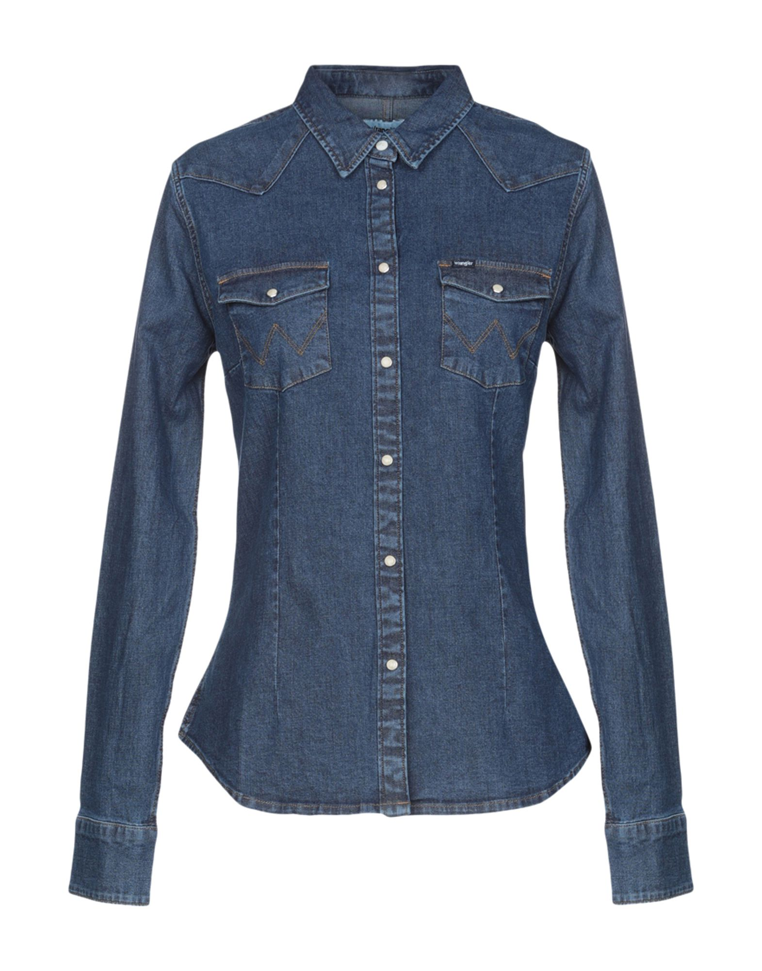 WRANGLER Джинсовая рубашка рубашка джинсовая wrangler wrangler wr224emvhf27
