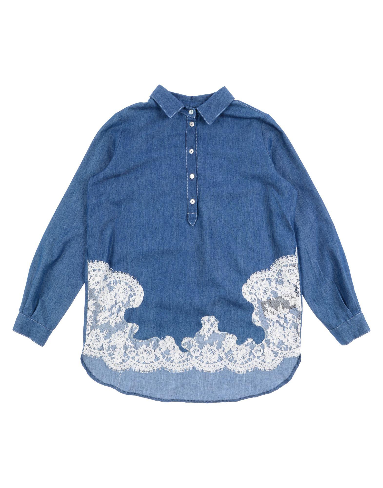 ERMANNO SCERVINO JUNIOR Джинсовая рубашка цена и фото