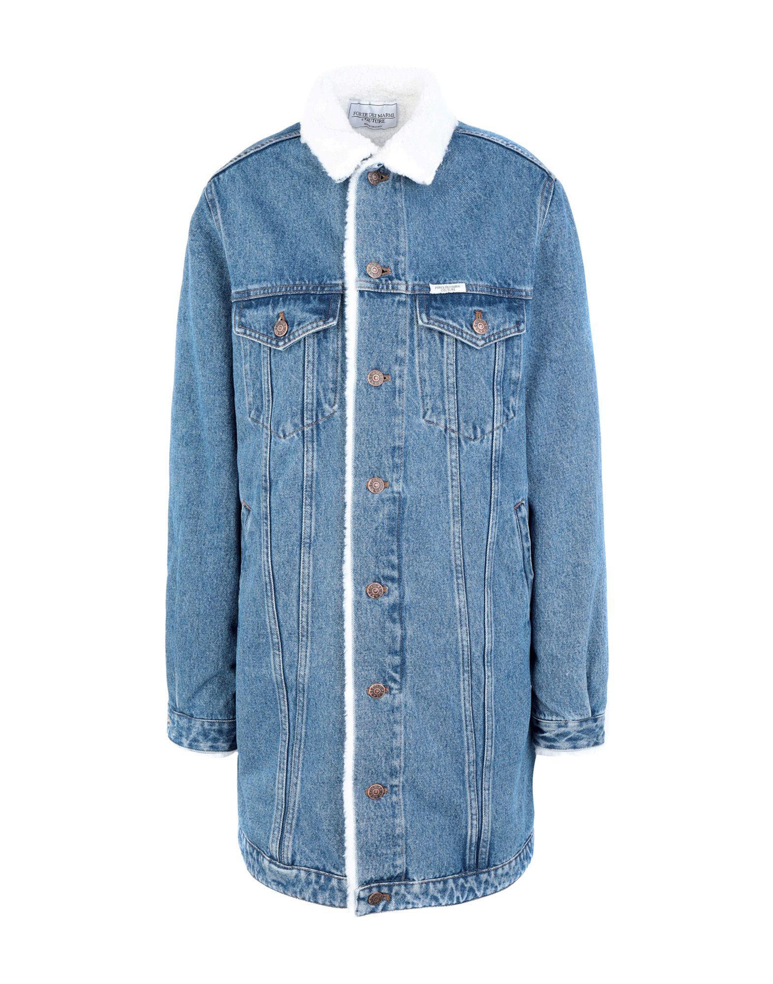 FORTE DEI MARMI COUTURE Джинсовая верхняя одежда цена 2017